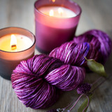 Grape Harvest Hand Dyed Worsted Yarn
