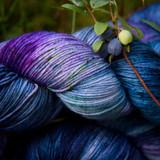 Wild Blueberry Hand Dyed Yarn