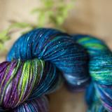Wild Blueberry Sparkle Sock Yarn 2