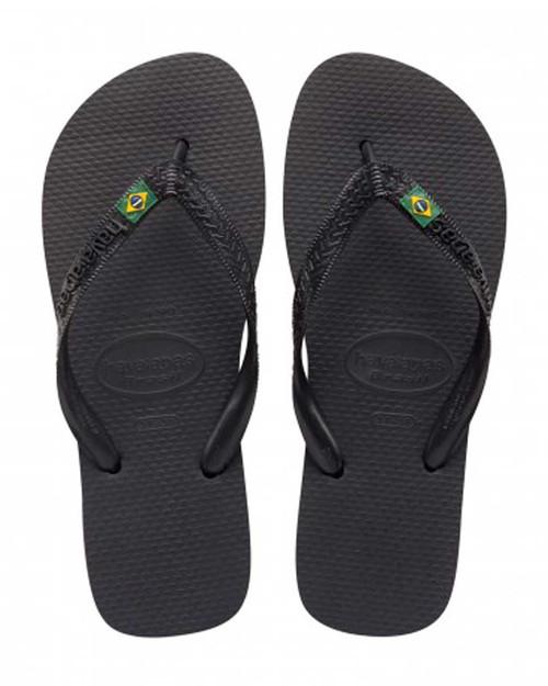Brasil Mens Jandal Black