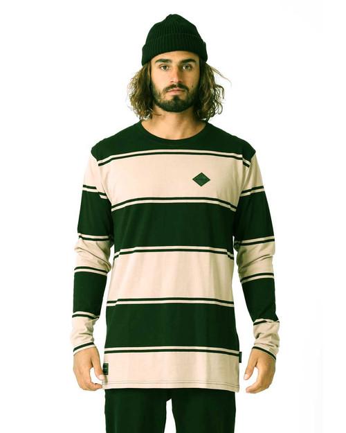 Stripe L/S Tee RPM - Black/Sand