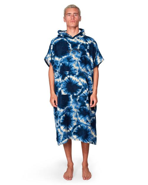Hoodie Towel Blue Tie Dye