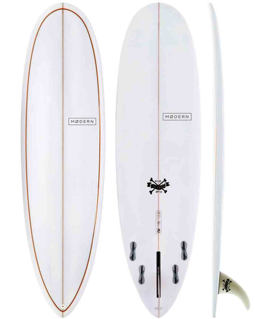 "6'4"" MD Love Child PU- Grey Org Pinlines"