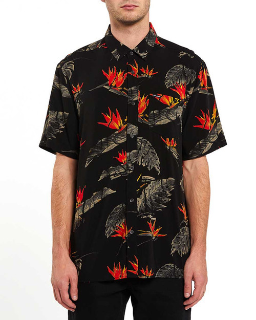 Floral Erupter SS Shirt - Black