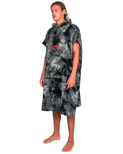 Mens Hooded Towel Tie Dye Blk