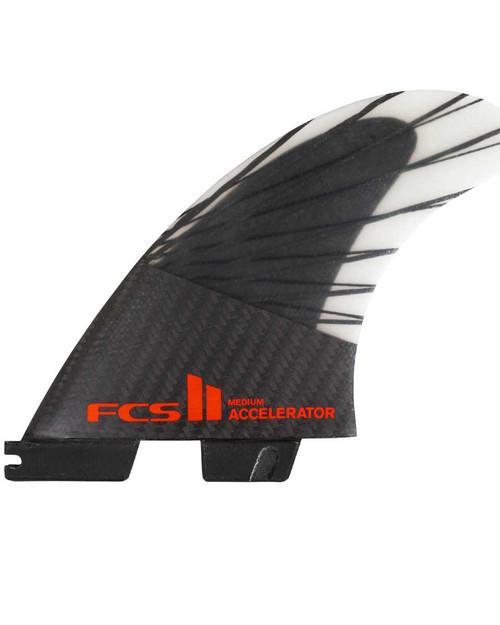 FCSII Accelerator PC Carbon Black/Red Tri Fins