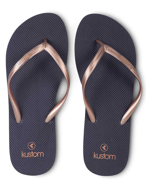 Classic Ladies Jandal Navy Gold