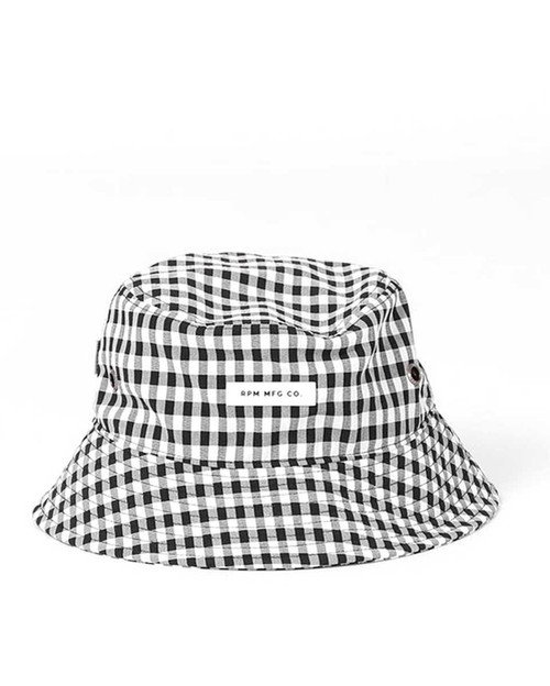 Bucket Hat - Black Gingham