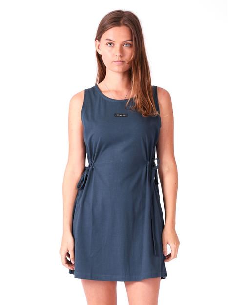 Tie Dress - Cobalt