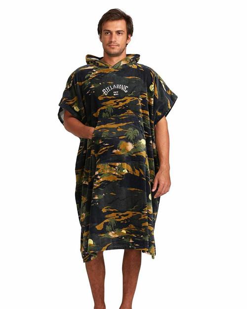 Mens Hooded Poncho - Camo