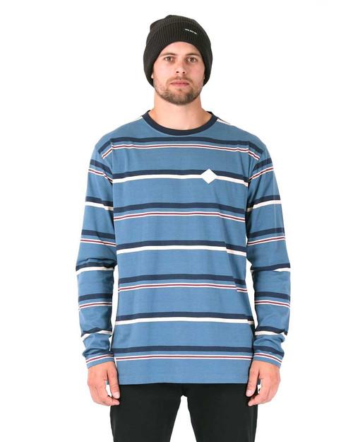 Stripe L/S Tee - Blue Stripe