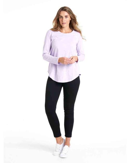 Megan Long Sleeve Top - Periwinkle