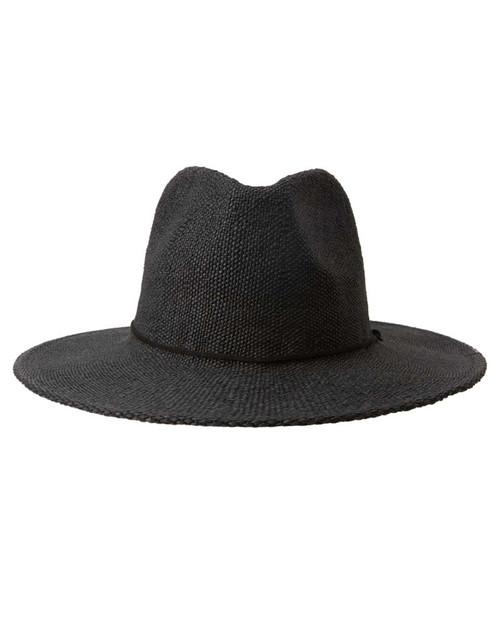 Crushy Straw Hat - Tarmac