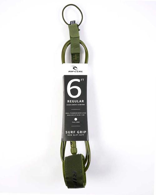 6'0 Regular Surf Leash - Olive