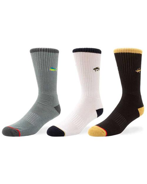 Fish Sticks 3 pk Socks