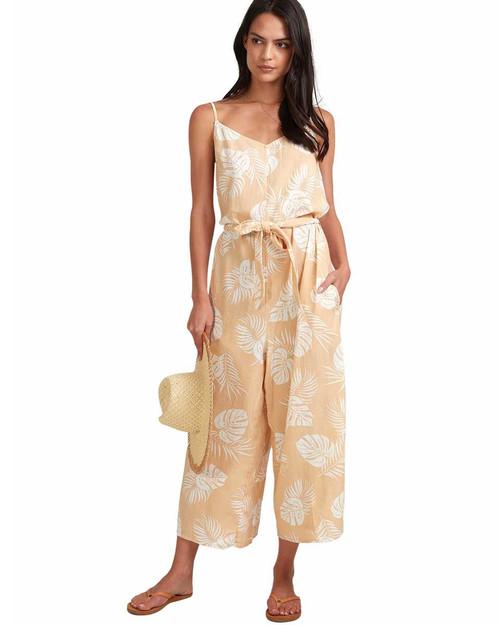 Sandy Palm Jumpsuit - Beige