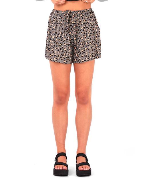 Olive Short - Leopard