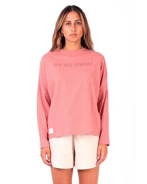 Slouch L/S Tee - Brick