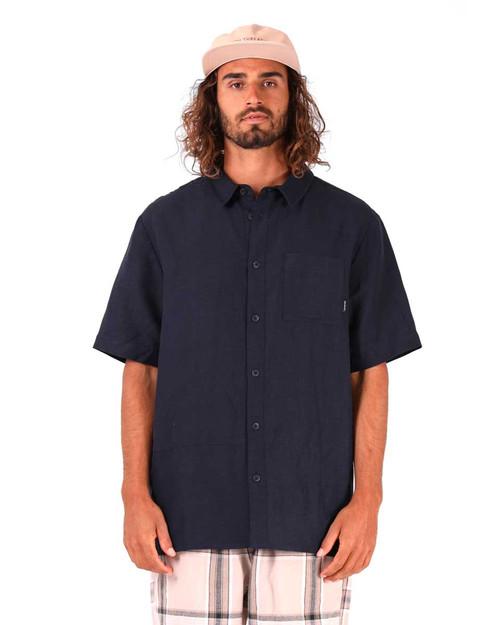 Linen S/S Shirt - Ink