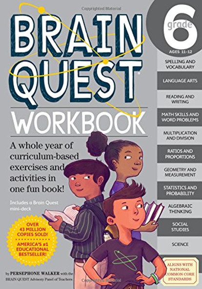 Brain Quest Workbook: Grade 6 Cover