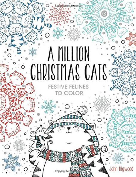 A Million Christmas Cats: Festive Felines to Color Cover