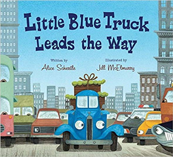 Little Blue Truck Leads the Way Board Book Cover