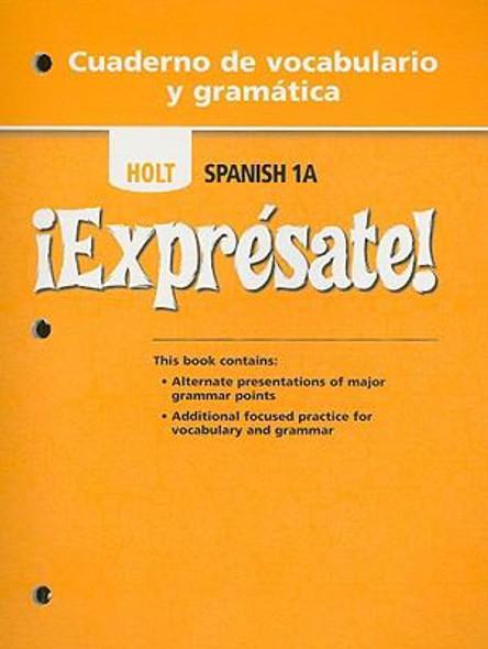 Holt Spanish 1A !Expresate! Cuaderno de Vocabulario y Gramatica Cover