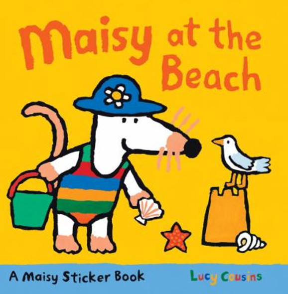 Maisy at the Beach: A Sticker Book Cover