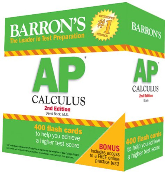 Barron's AP Calculus Flash Cards, 2nd Edition Cover