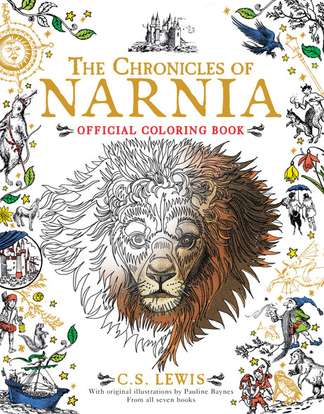 The Chronicles of Narnia Official Coloring Book Cover