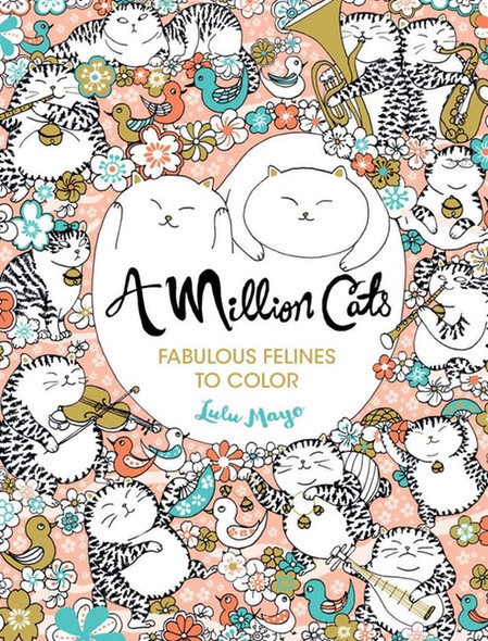 A Million Cats: Fabulous Felines to Color Cover