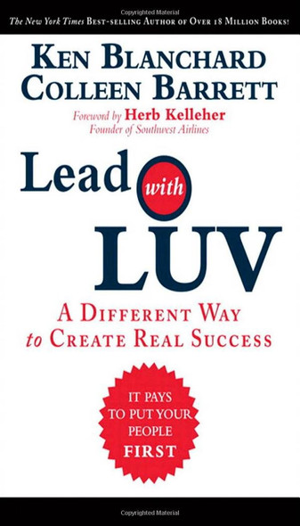 Lead with Luv: A Different Way to Create Real Success Cover