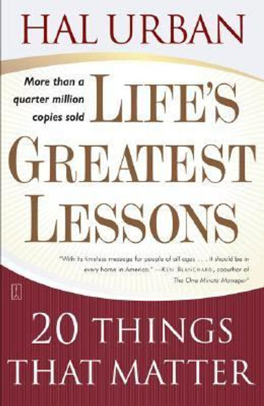 Life's Greatest Lessons: 20 Things That Matter Cover