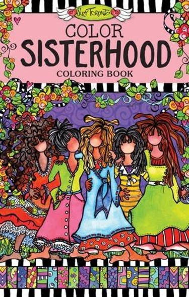 Color Sisterhood Coloring Book (Perfectly Portable Pages) (On-The-Go Coloring Book) Cover