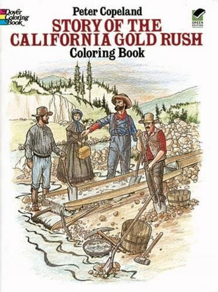 Story of the California Gold Rush Coloring Book Cover