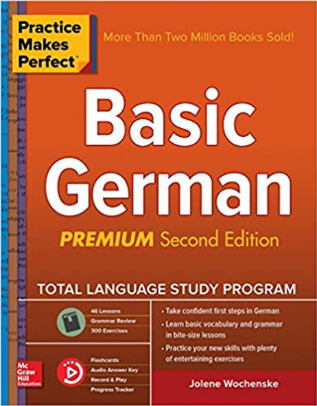 Practice Makes Perfect: Basic German, Second Edition 2nd Edition Cover