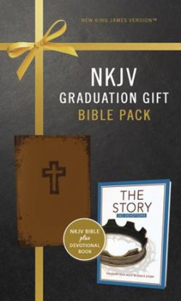 NKJV, Graduation Gift, Bible Pack for Him, Brown, Red Letter Edition Cover