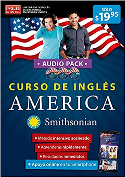 Curso de Ingl'©s Am'©rica de Smithsonian..Audiopack. Ingl'©s En 100 D'_as / America English Course, Smithsonian Institution Cover