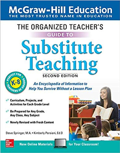 The Organized Teacher's Guide to Substitute Teaching, Grades K-8, Second Edition Cover