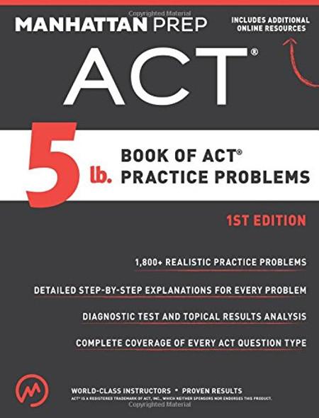 5 lb. Book of ACT Practice Problems Cover