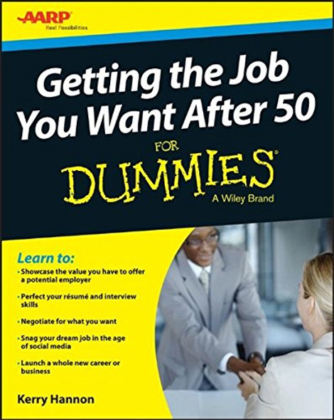 Getting the Job You Want After 50 For Dummies Cover