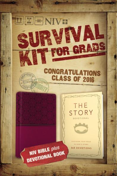 2016 Survival Kit for Grads, NIV: NIV Bible Plus Devotional Book, the Story Devotional Cover