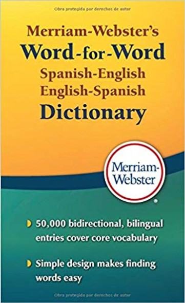 Merriam-Webster's Word-For-Word Spanish-English Dictionary Cover