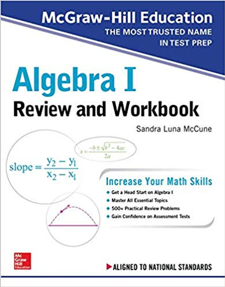 McGraw-Hill Education Algebra I Review and Workbook Cover