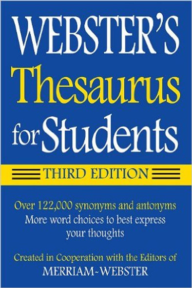 Webster's Thesaurus for Students (3RD ed.) Cover