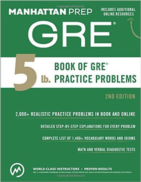 5 lb. Book of GRE Practice Problems (Manhattan Prep GRE Strategy Guides) Cover