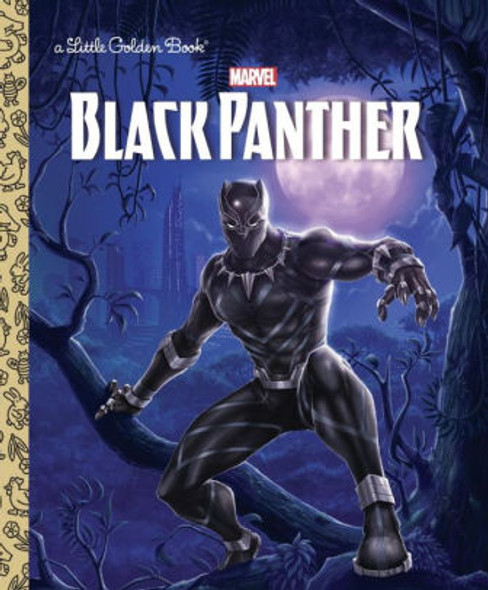 Black Panther Little Golden Book Cover
