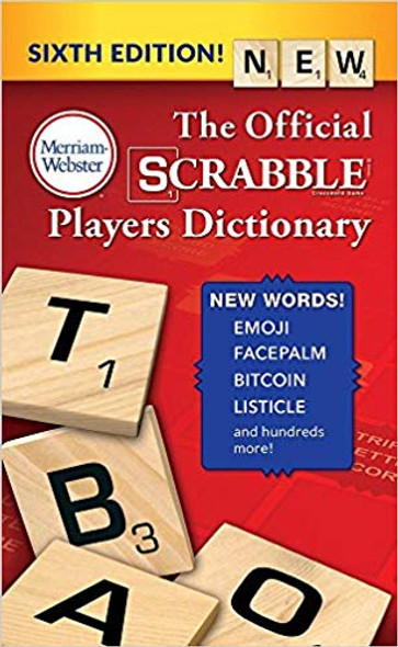 The Official Scrabble Players Dictionary (6TH ed.) Cover