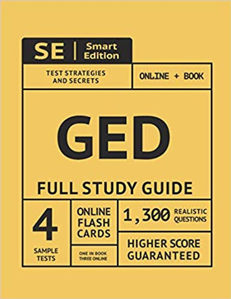 GED Full Study Guide: Test Preparation for All Subjects Including 4 Full Length Practice Tests Both in the Book + Online, with 1,300 Realist (1ST ed.) Cover