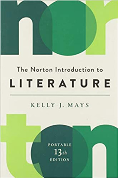 The Norton Introduction to Literature (Portable Thirteenth Edition) Cover